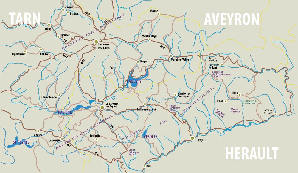 A Sphere Of Competences On 19 Villages That Composed The Communaut De Communes Angls Barre Berlats Cambon Et Salvergues Castanet Le Haut