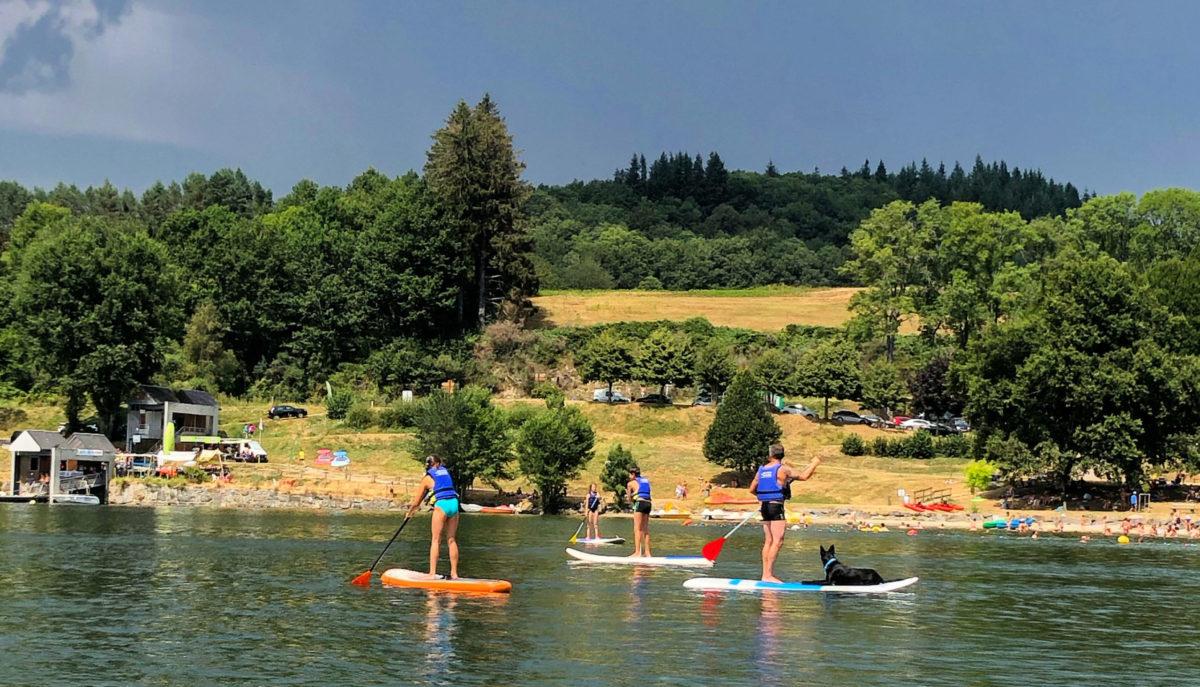 Paddle lac de la Raviège Salvetat chien